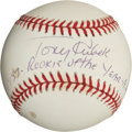 "Autographs:Baseballs, Tony Kubek ""Rookie of the Year"" Single Signed InscriptionBaseball...."