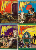 Books:Pulps, Amazing Stories 1927 Pulp Group (Gernsback, 1927) FN-....(Total: 7 Items)