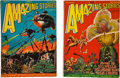 Books:Pulps, Amazing Stories Pulp Group (Gernsback, 1927) VG/FN....(Total: 2 Items)
