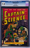 Books:Comics - Golden Age, Captain Science #4 (Youthful Magazines, 1951) CGC 7.0 FN/VFOff-white pages....