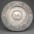 Silver Holloware, Continental:Holloware, SPANISH SILVER REPOUSSÉ CHARGER . Madrid, Spain, circa 1890. Marks:TA under flower, 916, F. GRANDA, HIPODROMO-MADRID-...