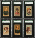Non-Sport Cards:Lots, 1887 N284 Buchner Gold Coin Police Inspectors and Captains, Jockeys and Actors Collection (6). ...