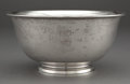 Silver Holloware, American:Bowls, TIFFANY & CO. SILVER REVERE BOWL MONOGRAMMED LM. NewYork, New York, circa 1907-1947. Marks: TIFFANY & CO.,19426A...