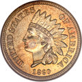 Proof Indian Cents, 1860 1C PR65 NGC....
