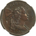 Large Cents, 1794 1C Head of 1794 -- Obverse Repaired -- NGC Details. AU. S-39,B-27, R.6. MRB Fine 12. ...