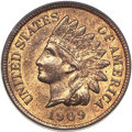 Indian Cents, 1909-S 1C MS65 Red PCGS....