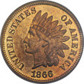 Proof Indian Cents, 1866 1C PR66 Red and Brown PCGS....