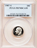 Proof Roosevelt Dimes: , 1987-S 10C PR70 Deep Cameo PCGS. PCGS Population (114). NGC Census:(107). Numismedia Wsl. Price for problem free NGC/PCGS...
