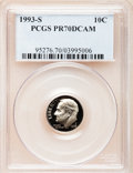 Proof Roosevelt Dimes: , 1993-S 10C Clad PR70 Deep Cameo PCGS. PCGS Population (195). NGCCensus: (0). Numismedia Wsl. Price for problem free NGC/P...
