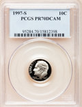 Proof Roosevelt Dimes: , 1997-S 10C Clad PR70 Deep Cameo PCGS. PCGS Population (131). NGCCensus: (182). Numismedia Wsl. Price for problem free NGC...