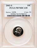 Proof Roosevelt Dimes, 2002-S 10C Clad PR70 Deep Cameo PCGS. PCGS Population (145). NGCCensus: (0). Numismedia Wsl. Price for problem free NGC/P...