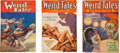Books:Pulps, Set of Three Weird Tales Pulps from the Early '30s (Popular,1932-33).... (Total: 3 Items)