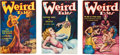 Books:Pulps, Three 1935 Issues of Weird Tales (Popular, 1935) FN-....(Total: 3 Items)
