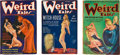 Books:Pulps, Set of Three Weird Tales Pulps from 1936 (Popular 1936)FN-.... (Total: 3 Items)