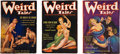 Books:Pulps, Set of Three Issues of Weird Tales (Popular 1935-36) FN-....(Total: 3 Items)