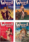 Books:Pulps, Set of Weird Tales Pulps from 1938 (Popular, 1938) FN-....(Total: 4 Items)
