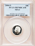 Proof Roosevelt Dimes, 2004-S 10C Silver PR70 Deep Cameo PCGS. PCGS Population (357). NGCCensus: (0). Numismedia Wsl. Price for problem free NGC...