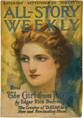 Books:Pulps, All-Story Weekly September 23, 1916 (Munsey, 1916) FN-....