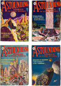 "Books:Pulps, Astounding Stories ""Brigands of the Moon"" Group (Clayton,1930) VG/FN.... (Total: 4 Items)"