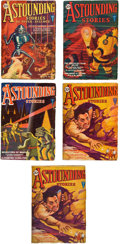 Books:Pulps, Astounding Stories January-April 1931 Group (Clayton, 1931)VG+.... (Total: 5 Items)