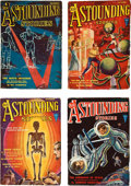 Books:Pulps, Astounding Stories September-December 1931 Group (Clayton,1931) VG/FN.... (Total: 4 Items)