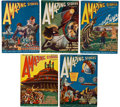 Books:Pulps, Amazing Stories August-December 1926 Group (Gernsback, 1926)FN-.... (Total: 5 Items)