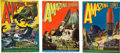 "Books:Pulps, Amazing Stories ""Land That Time Forgot"" Group (Gernsback, 1927) FN-.... (Total: 3 Items)"