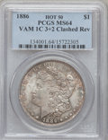 Morgan Dollars, 1886 $1 --Clashed Rev--MS64 PCGS.Vam 1C 3+2 Hot 50. PCGS Population(77/59). (#134001)...