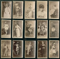 "Non-Sport Cards:Lots, 1880's N145 Cross-Cut ""Actors and Actresses"" Collection (15). ..."