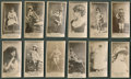 Non-Sport Cards:Lots, 1880's N145 Actors and Actresses Collection (12). ...