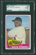 Baseball Cards:Singles (1960-1969), 1965 Topps Willie Stargell #377 SGC 92 NM/MT+ 8.5....
