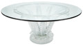 Glass, LALIQUE GLASS CENTER TABLE: CACTUS. France, post 1945. 28-5/8 x 62-1/2 inches diameter (72.7 x 158.8 cm)...