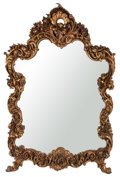 Furniture , ROCOCO STYLE GILT WOOD OVER MANTLE MIRROR . France, 20th century. 58 x 44-1/2 x 5 inches (147.3 x 113.0 x 12.7 cm). ...