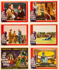 "Miscellaneous:Movie Posters, The Day the Earth Stood Still (20th Century Fox, 1951).Title Card and Lobby Cards (6) (11"" X 14""). One of the most ..."