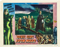 "Devil Girl from Mars (Spartan, 1955). Lobby Card (11"" X 14""). A true cult classic, paper from t"