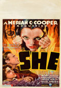 """Miscellaneous:Movie Posters, She (RKO, 1935). Midget Window Card (8"""" X 14""""). There is perhaps no actress more enigmatic than the star of this fas..."""