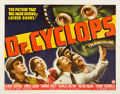 "Miscellaneous:Movie Posters, Dr. Cyclops (Paramount, 1940). Half Sheet (22"" X 28""). This rare half sheet features the menacing mad scientist Dr...."