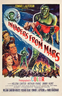 "Invaders from Mars (20th Century Fox, 1953). One Sheet (27"" X 41""). Featuring alien abduction"