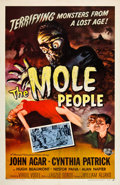 "Miscellaneous:Movie Posters, Mole People (Universal, 1956). One Sheet (27""X 41"").Universal always had a knack for creating memorable monsters,..."