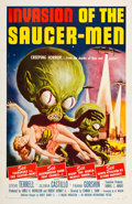 "Miscellaneous:Movie Posters, Invasion of the Saucer-Men (American International, 1957).One Sheet (27"" X 41""). If you love campy science-fiction..."
