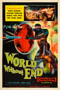 "Miscellaneous:Movie Posters, World Without End (Allied Artists, 1956). One Sheet (27"" X 41""). This science fiction picture heavily borrow..."