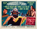 "Miscellaneous:Movie Posters, Forbidden Planet (MGM, 1956). Half Sheet (22"" X 28"") Style A. In terms of desirability, this is one of the top scie..."