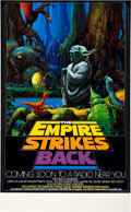 "Miscellaneous:Movie Posters, The Empire Strikes Back (NPR, 1982). Radio Promo Poster (17""X 28""). With brilliant color and artwork, this poster ..."