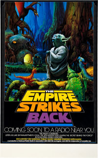 """The Empire Strikes Back (NPR, 1982). Radio Promo Poster (17"""" X 28""""). With brilliant color and"""