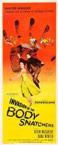 """Miscellaneous:Movie Posters, Invasion of the Body Snatchers (Allied Artists, 1956).Insert (14"""" X 36""""). This sensational sci-fi horror classic ..."""