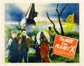 "Miscellaneous:Movie Posters, The Man from Planet X (United Artists, 1951). Half Sheet(22"" X 28"") Style A. This atmospheric early sci-fi, direc..."
