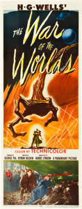 "Miscellaneous:Movie Posters, The War of the Worlds (Paramount, 1953). Insert (14"" X 36"").The Academy Award winner for Best Special Effects, Th..."