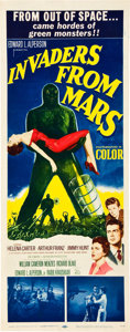 "Miscellaneous:Movie Posters, Invaders from Mars (20th Century Fox, 1953). Insert (14"" X36""). Every kid's nightmare comes to vivid life in this..."