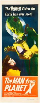 """The Man from Planet X (Untied Artists, 1953). Insert (14"""" X 36""""). Posters for this title have"""