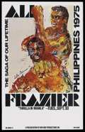 "Movie Posters:Sports, Ali vs. Frazier Boxing Poster (Don King Productions, 1975). Poster (30"" X 40""). Sports...."